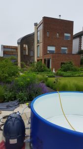 Architect designed home in Berkhamsted, hot tub in the foreground