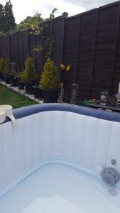 Watford hot tub filling up