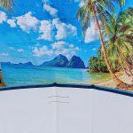 Beach scene backdrop