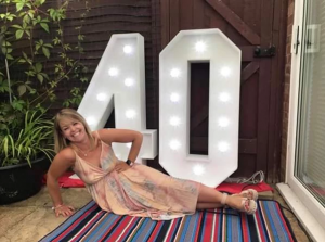 4ft LED light up numbers - 40 available to hire