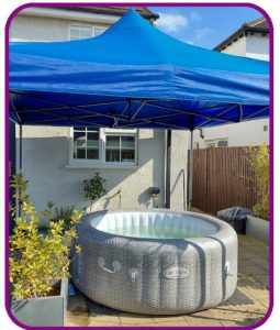 4-5 person hot tub with gazebo for hire