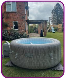 4-5 person hot tub for hire