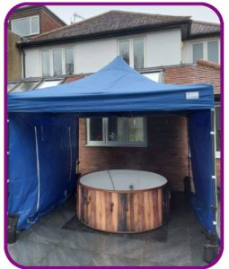 6-7 person hot tub with gazebo for hire