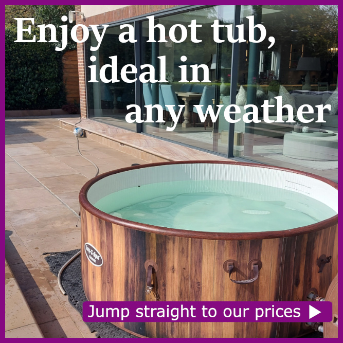 Hot tub hire prices
