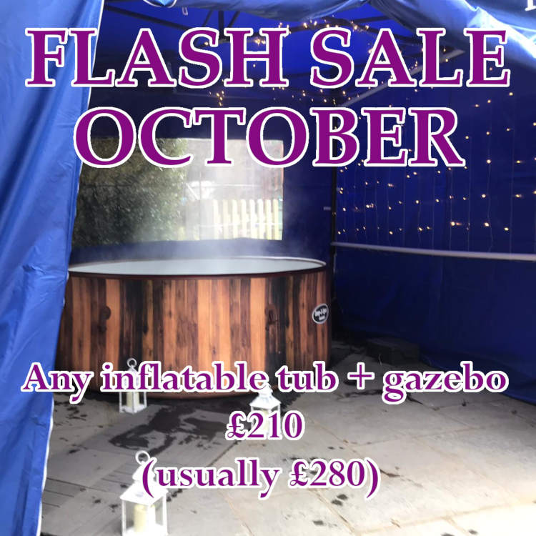 solid hot tub with gazebo for hire