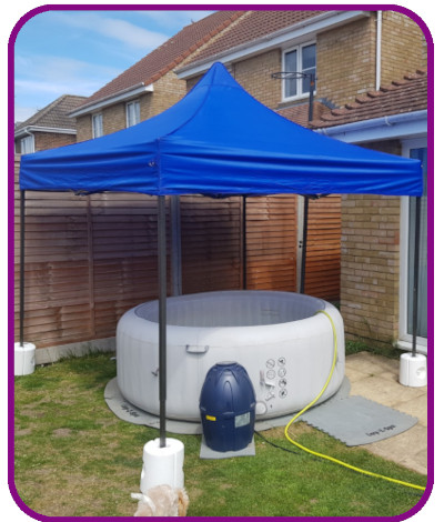 4-5 person hot tub with gazebo