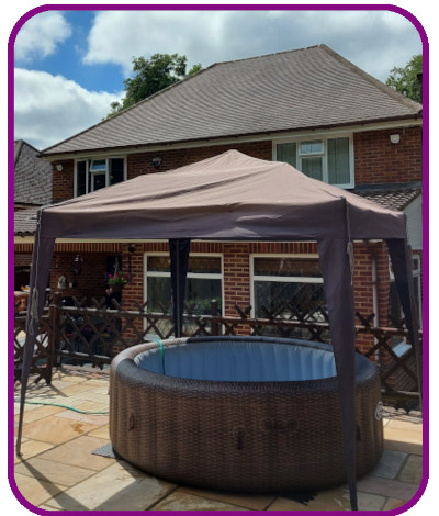 6-7 person hot tub plus gazebo