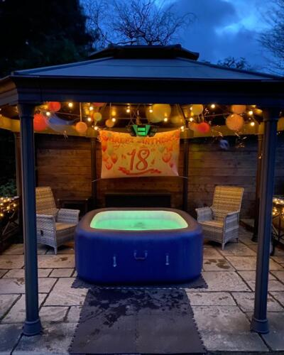 Birthday Hot tub